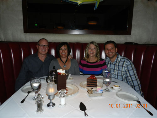 Dinner with Amy and Tom at Trulucks in La Jolla