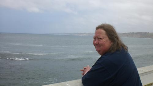Lisa enjoying the view during her visit to San Diego, 2011