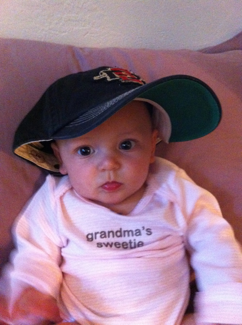Wearing Dad's cap