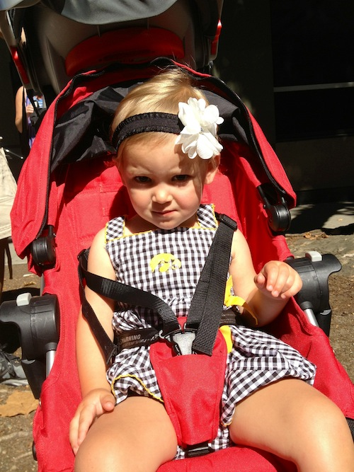 Ava throwing a fit at the market