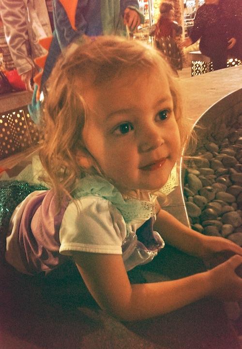 Ava taking it all in on Halloween night