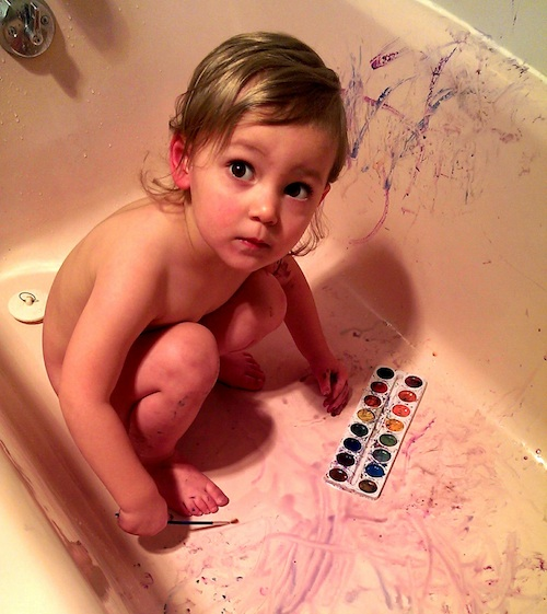 Our little painter