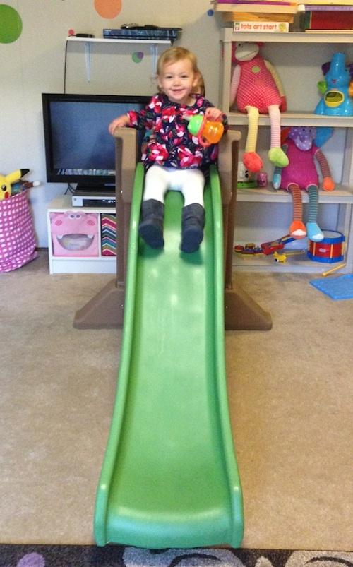 Ava loves her slide