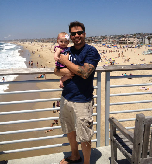 Ava and I in Hermosa Beach