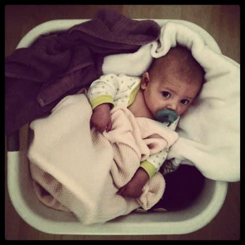 Loving the laundry basket