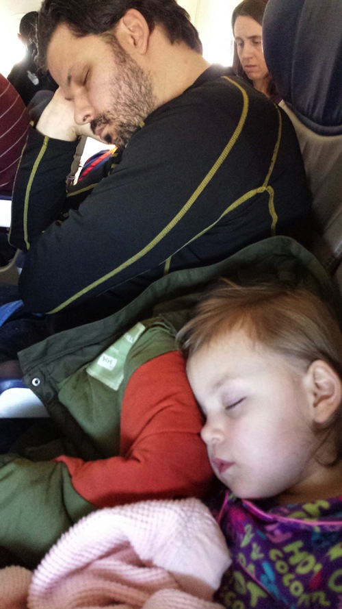 Getting some z's on the plane