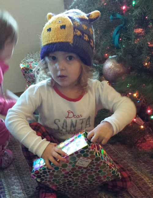 Ava sporting her new hat