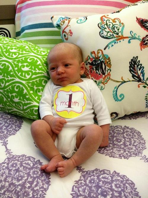 Elise at 1 month old