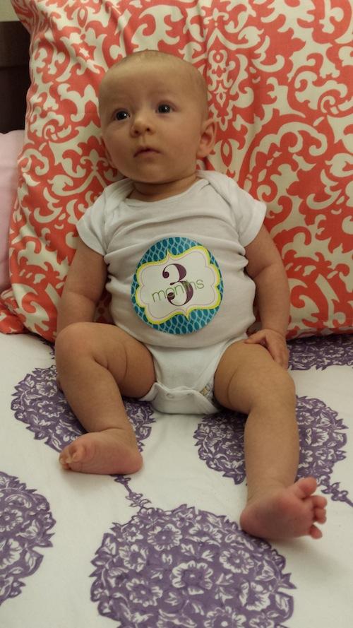 Elise at 3 months