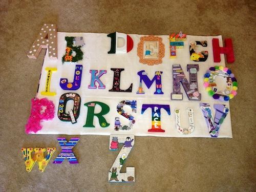 Elise's nursery letters