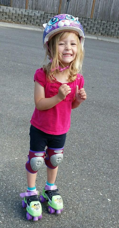 Elise roller skating