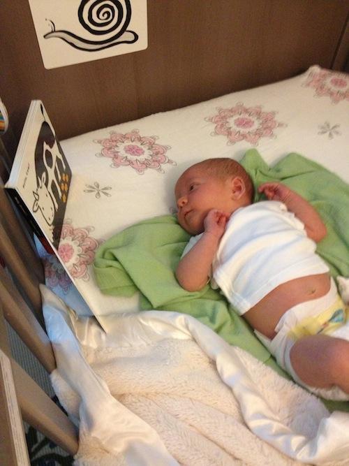 Elise already loves reading