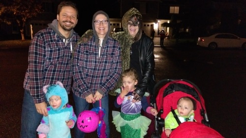 Out doing some trick-or-treating