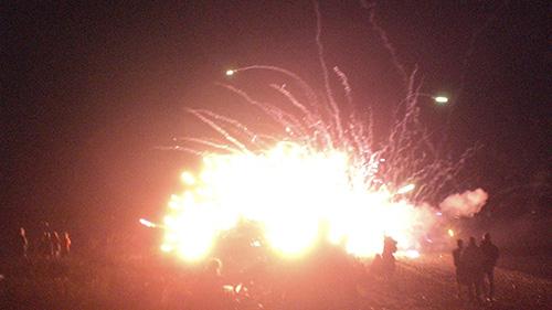 Fireworks gone wrong