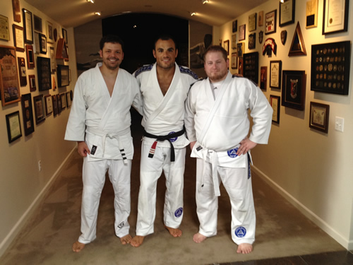 Donnie and I with Ralek Gracie