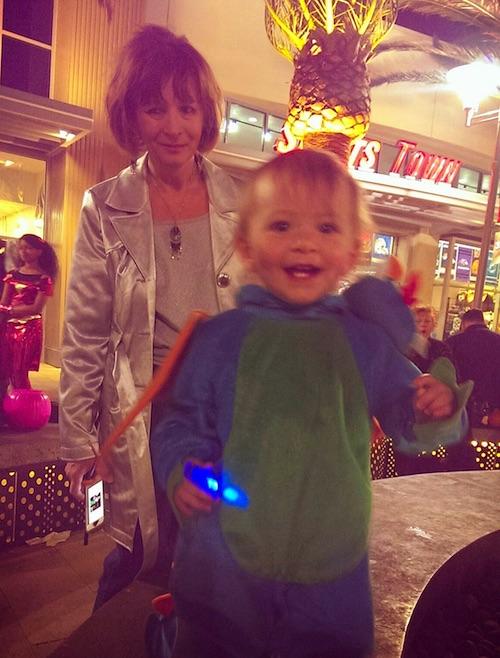 Elise and Nana having fun on Halloween night