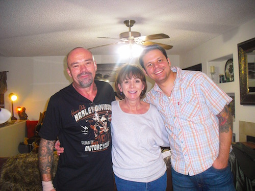 Mom, Terry, and I on her birthday