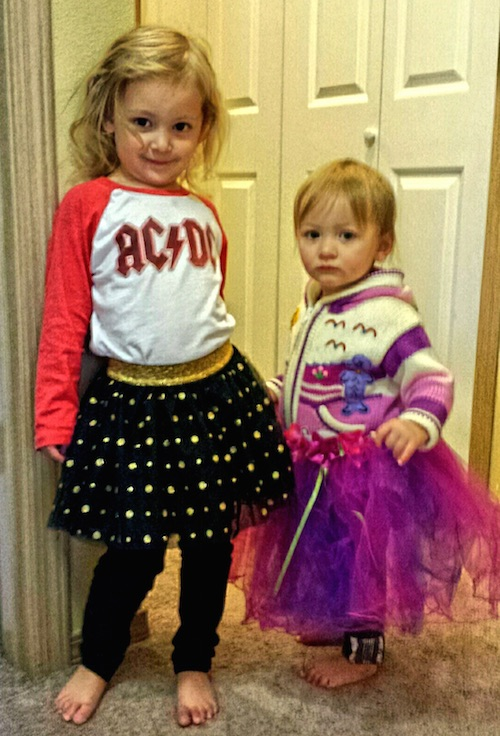 The girls in their tutus