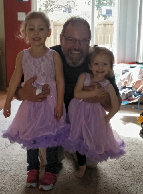Grandpa and his girls