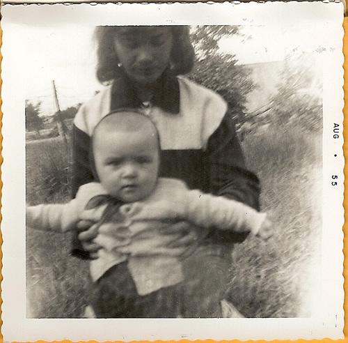 Mom as a baby with Nana